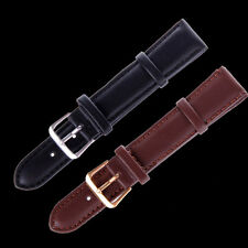Fashion Unisex Genuine Leather Black Brown Watch Strap Band Wristwatch Bands MS