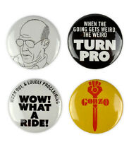 Hunter S. Thompson inspired buttons! gonzo, fear and loathing badges, las vegas