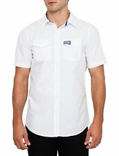 Superdry Mens Washbasket Solid Short Sleeve Shirt Optical White (#7616)