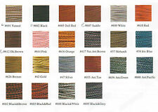 "3mm (1/8"") Braided Bolo Cord, Leather, Premium Quality!  27 Colors!"