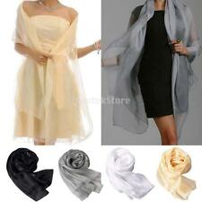 New Design Women Beautiful Solid Organza Shawl Wraps Scarf Scarves Free shipping
