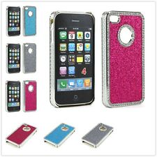 Glitter Diamond Aluminum Case Cover for Apple iPhone 4 4S 4G Screen Protector