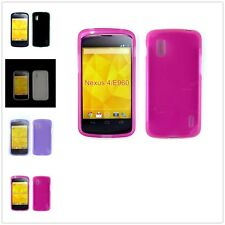 Shockproof Slim TPU Gel Rubber Soft Skin Silicone Case Cover For LG Nexus 4 E960