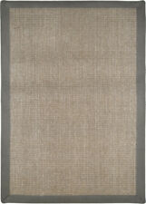Gray Sisal Seagrass Area Rug Bordered Natural Fiber Casual Accent Carpet Rugs