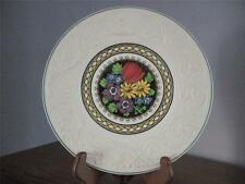 Wedgwood Plate White w/Embossed Border - Fruits in the Center