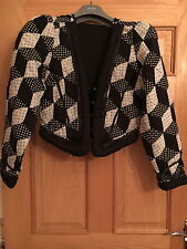 MAHARISHI WOMENS MIXED PATCHWORK JACKET WITH PADDED DETAIL!!!