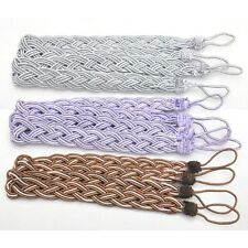 Chic Window Rome Curtain Cord Rope Buckle Tiebacks Braided Tie Back 8 Colors
