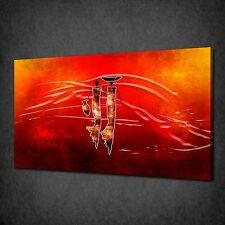 ABSTRACT AFRICAN RED MODERN CANVAS PRINT ART MANY SIZES FREE UK P&P AF058