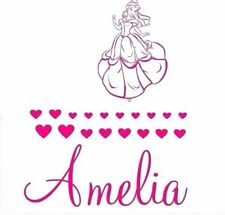 GIRLS NAME Bedroom Wall Art Decal/Sticker  Princess Belle NEW