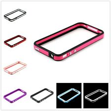 Frame Bumper Chrome Button TPU Soft Skin Case Cover For Apple iPhone 4 4S 4G 4GS