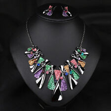 Jewelry Statement Crystal Necklace Choker Chunky New Women Chain Pendant Bib