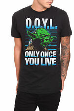 NEW Star Wars Jedi YODA ONLY ONCE YOU LIVE OOYL Tee Shirt Black T Mens Small