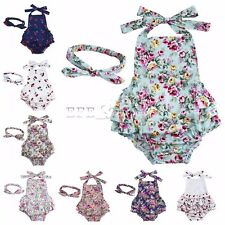 Newborn Toddler Infant Baby Girls Romper Jumpsuit Bodysuit Clothes Outfits Set
