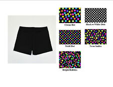 """VOLLEYBALL EXERCISE COMPRESSION SHORTS POLKA DOTS WOMENS 3"""",4"""", 6"""" INSEAM NWOT"""