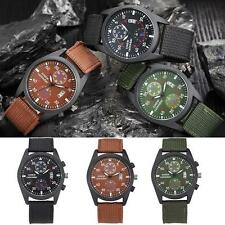 Cool Mens Date Military Stainless Steel Sports Analog Quartz Army Wrist Watch