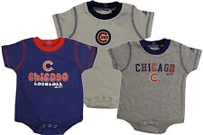 Chicago Cubs Baby Boys 3 Piece Bodysuits Set-5913