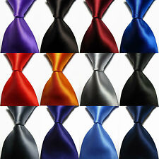 New Classic Solid Plain of 12 Color Jacquard Woven 100% Silk Men's Tie Necktie