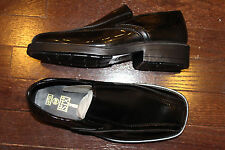 After Six A6735 Boys YOUTH Tuxedo Dress Formal Shoes Black Patent Slip On 4 5 6