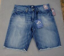 NWT $58 Mens AI Authentic Icon American Idol Indigo Denim Shorts  Sizes 32 36