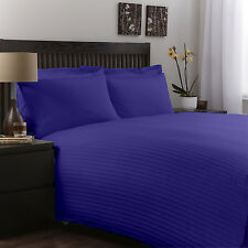 Comfort Soft Egyp Blue Solid/Stripe1000TC Egyptian Cotton All Bedding Set & Size
