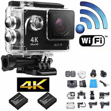 4K  2.0'' 1080P Full HD Wifi Waterproof Sport Action Camera Video Battery 900mAH