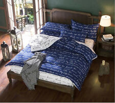 New Single Double Queen King Size Bed Pillowcase Quilt Duvet Cover Set #D