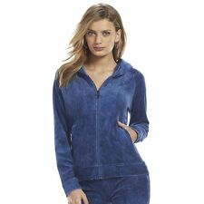 Juicy Couture Pleated Velour Faux-Denim Jogger TrackPant Suit or Hoodie Blue NWT