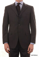CANALI Exclusive Collection Gray Striped Super 150's Wool Suit NEW