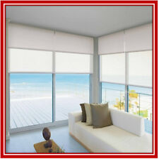 NEW! 210 x 210 Dual Double Blockout & Light Filtering Roller Blinds Ready Made