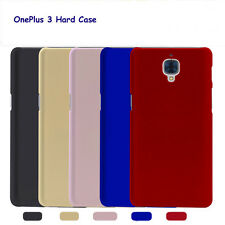 New Slim Skin Touch Hard PC Case & Full Cover Tempered Glass For OnePlus 3 Three