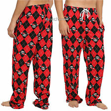 HARLEY QUINN COMFY UNISEX Pajama Lounge SLEEP PANTS DC COMICS FREE SHIP NEW