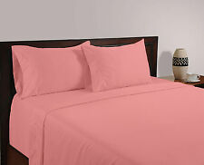 Luxury Bedding Collection 100% Egyptian Cotton 1000 TC Pink Solid ~ UK