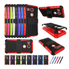 TPU & PC Hybrid Shockproof Dual Layer Duty Stand Case Cover For LG Cell Phones
