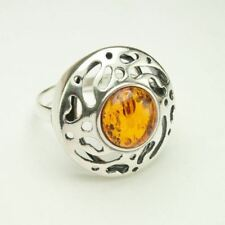 AUTHENTIC BALTIC AMBER 925 STERLING SILVER RING JEWELRY - US SELLER