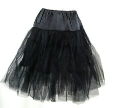 Plus 60's Square Dance Costume Black Petticoat Three layers underskirt Pannier