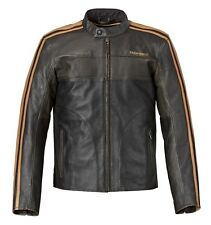 Mens Triumph Restore Retro Leather Motorcycle Jacket