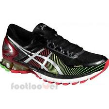 Shoes Asics Gel Kinsei 6 t642n 9093 man running Black Silver Red