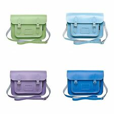 Zatchels Womens/Ladies Handcrafted Pastel Leather Satchel Bag (British Made)