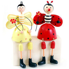 New pair of Boy Girl Bee Laydbug Fairiy Metal Doll Shelf Sitter home shelf deco