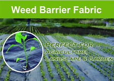Weed Control Barrier Landscape Fabric Membrane Ground Cover, UV Resistant