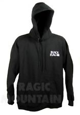 BLACK FLAG Embroidered Bars Logo Old School PUNK Rollins Sweatshirt Hoodie