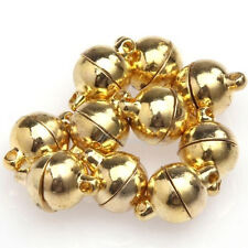 10Sets Silver/Gold Plated Round Ball Magnetic Clasps 6/8mm For Jewelry Making HC