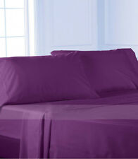 Complete Bedding Item 100% Pima Cotton 600TC Purple Solid Choose Size & Set