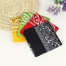 Unisex Paisley Bandana 100% Cotton Head Wrap Neck Scarf Wristband Handkerchief