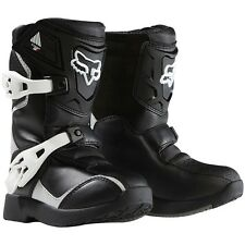 NEW FOX RACING BOYS CHILDREN KIDS COMP 5K BLACK MX MOTOCROSS BOOTS RIDING RACING