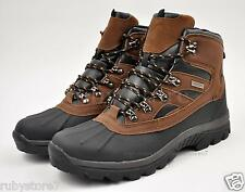 LABO Men's Black/Brown Winter Snow Work Boots Shoes Waterproof Insulated NS5912