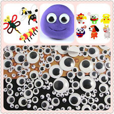 8-18mm Wiggly Wobbly Googly Eyes Self-adhesive Scrapbooking Crafts Good HC