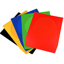 CD/DVD PAPER SLEEVES COLOURED SLEEVE COVER CASE WITH WINDOW & FLAP 100 GSM