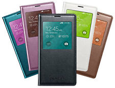 GENUINE SAMSUNG GALAXY S5 S-VIEW FLIP CASE WALLET COVER OFFICIAL ORIGINAL PACK