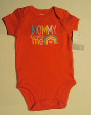 Infant Girls Carters Brand Orange Mommy Loves Me Bodysuit Size 6 12 24 Months